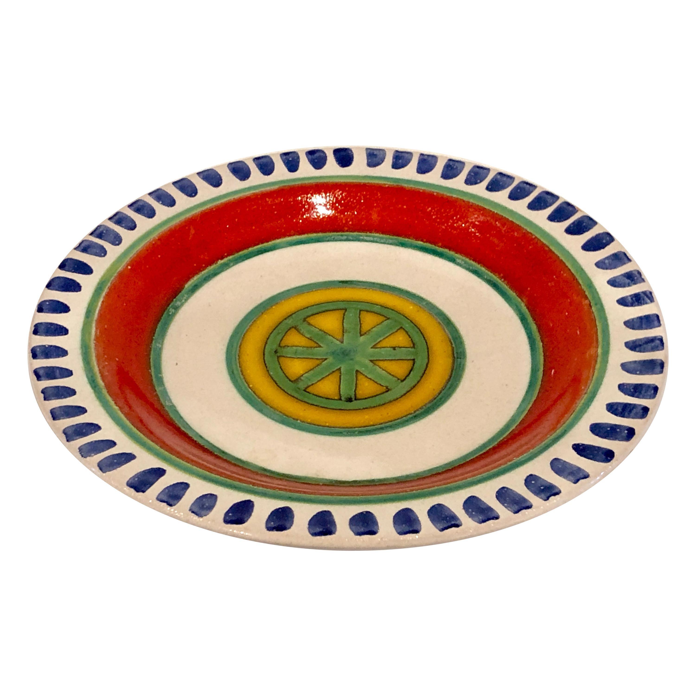 Decorative Hand Painted Italian Ceramic Plate by DeSimone