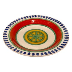 Decorative Hand Painted Italian Ceramic Plate by DeSimone