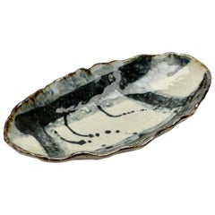 Decorative Handmade Organic Studio Pottery Glazed Ceramic Dish or Vide-Poche