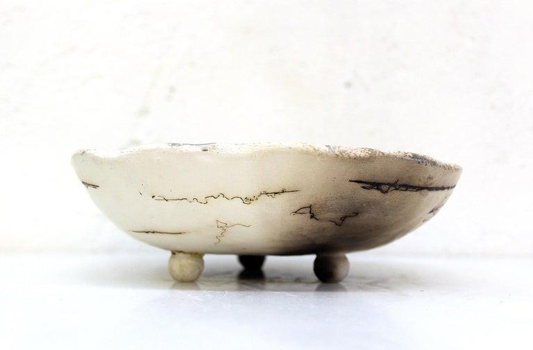 Decorative Horsehair Raku Ceramic Dish by Minh Singer 3