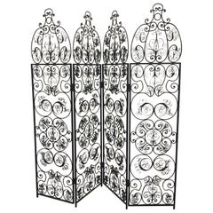 Decorative Iron Filigree Screen Room Divider