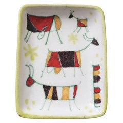 Decorative Italian Ceramic Tray / Dish by Guido Gambone, circa 1950s