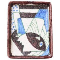Decorative Italian Ceramic Tray / Plate by Guido Gambone, circa 1950s