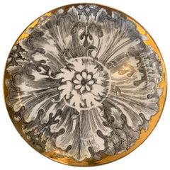 Decorative Italian Gilt Plate by Bucciarelli
