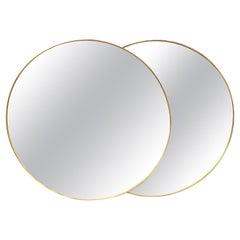 Decorative Italian Round Brass Mirrors