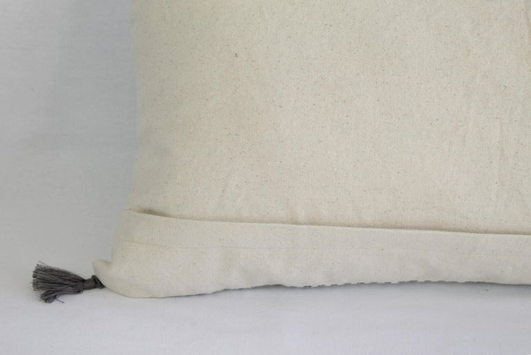 Decorative Lumbar Pillow with Fringe For Sale 6