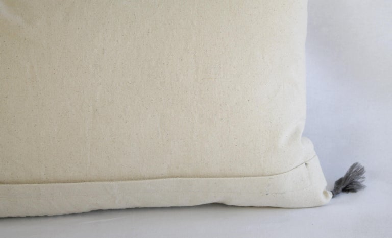 Decorative Lumbar Pillow with Fringe For Sale 7