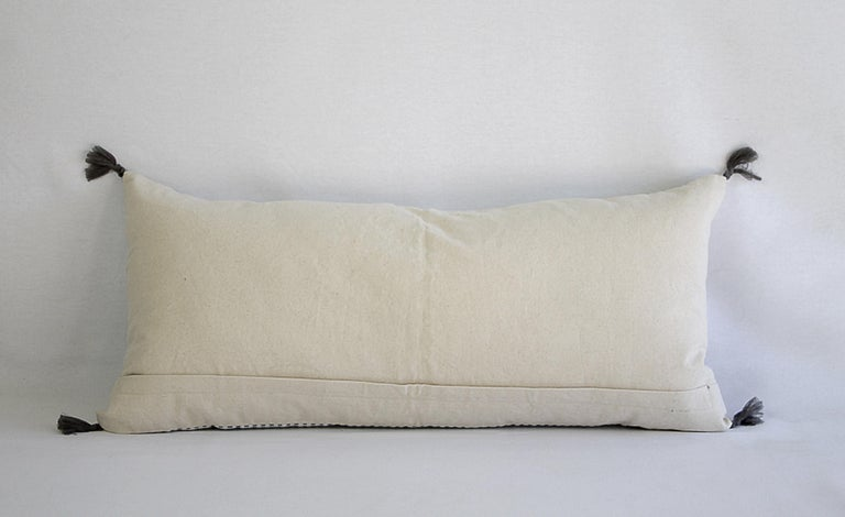 Decorative Lumbar Pillow with Fringe For Sale 4