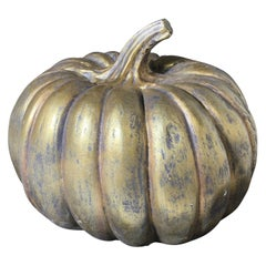 Decorative Metal Centerpiece Pumpkin Sculpture
