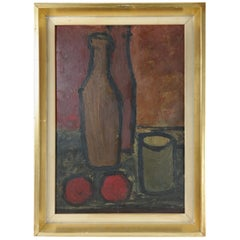 Decorative Mid-century Still Life by Endre Boszin from 1970