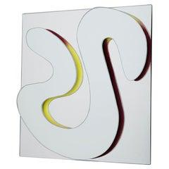 "Decorative Mirror Abstract Shape ""Trazo Doble"""