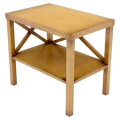 Decorative Modern Design Faux Finish One Shelf Side End Table