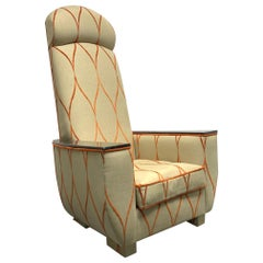 Decorative Modern Tall Back Armchair