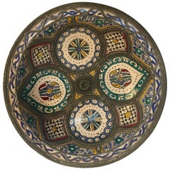 Decorative Moroccan Handcrafted Ceramic Bowl from Fez