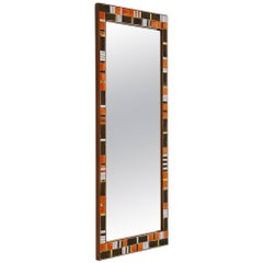Decorative Mosaic Wall Mounted Mirror, Italy, 1950