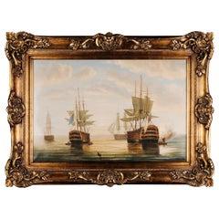 Decorative Oil Painting battleship Oil on Canvas