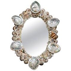 Decorative Oval Shell Wall Mirror