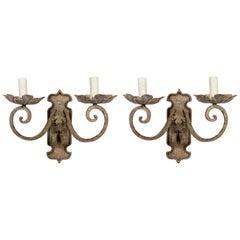 Decorative Painted Scroll Arm Sconces 'Pair'