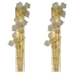 Decorative Pair of Murano Glass Sconces