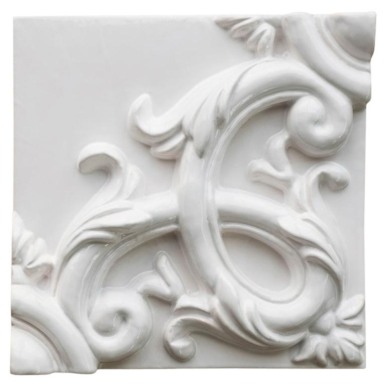 Decorative Panel in Ceramic, Customizable in Size and Finishes, Acanto
