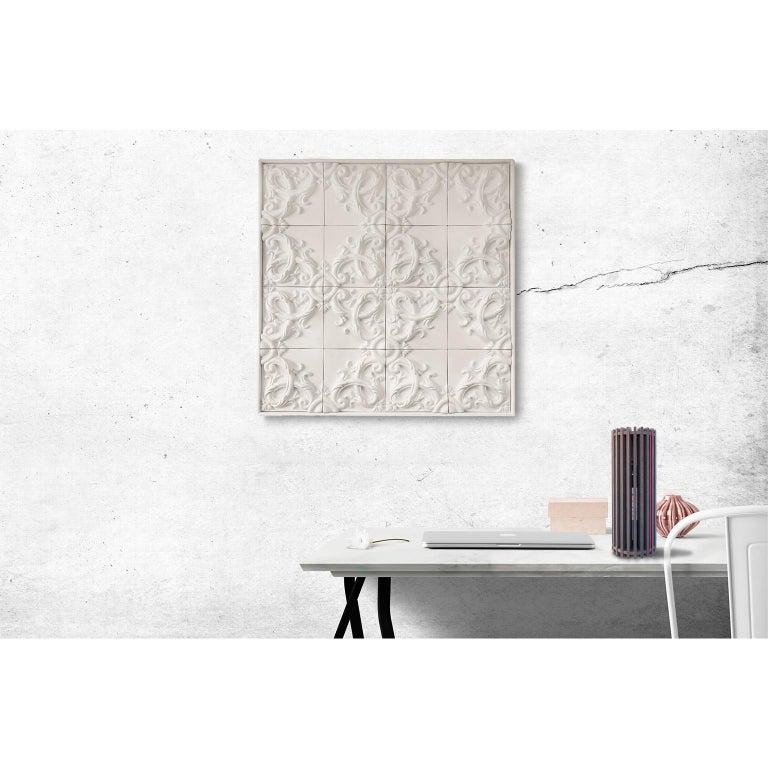 Baroque Revival Decorative Panel in Three-Dimensional Baroque Ceramic, Customizable, Acanto For Sale