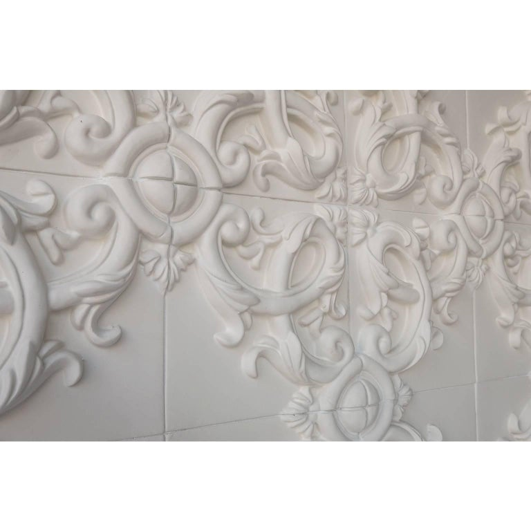 Decorative Panel in Three-Dimensional Baroque Ceramic, Customizable, Acanto In New Condition For Sale In Palermo, IT
