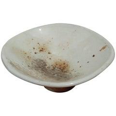 Decorative Pedestal Bowls, Hand-Built Wood-Fired Porcelain
