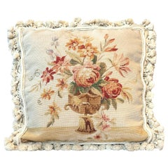 Decorative Pillow, Floral Vintage French Style Aubusson Rug Pillow Cushion Cover