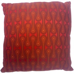 Orange Decorative Pillow with Alexander Girard Textile