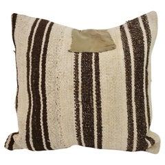 Decorative Pillow with Antique Textile Cover