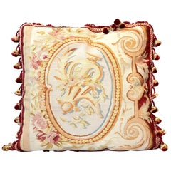 Decorative Pillows, Vintage French Style Aubusson Style Pillow Cushion Cover