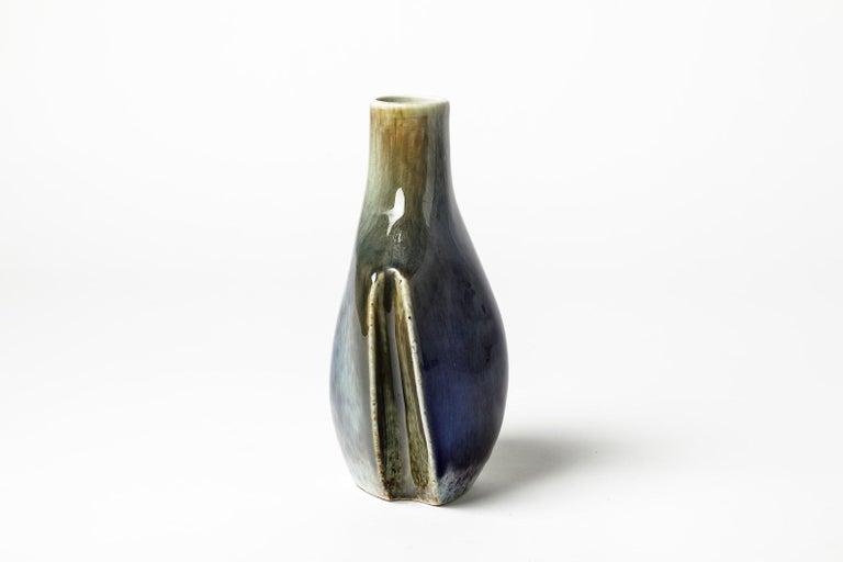 Decorative Porcelain Vase by Tim Orr, circa 1970 In Excellent Condition For Sale In Neuilly-en- sancerre, FR