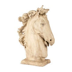 Decorative Resin Cast of a Classical Style Horse Bust