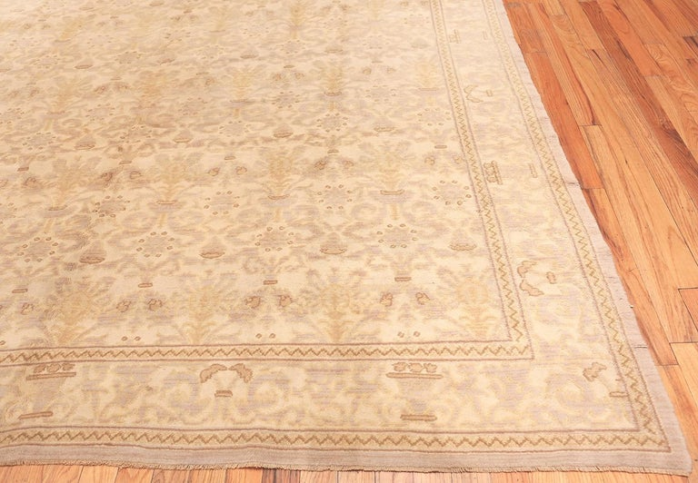Spanish Colonial Decorative Room Size Antique Spanish Carpet. Size: 9 ft 3 in x 12 ft 3 in For Sale