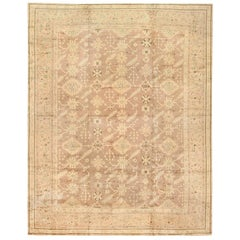 Decorative Room Size Antique Turkish Oushak Rug. Size: 12 ft x 14 ft 9 in