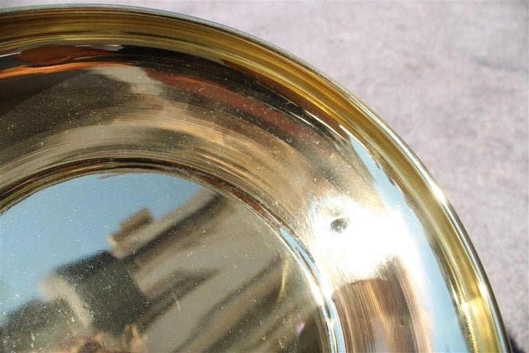 Decorative Round Brass Gold Bowl Midcentury Italian Design In Good Condition For Sale In Palermo, Sicily