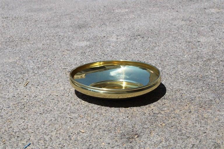 Decorative Round Brass Gold Bowl Midcentury Italian Design For Sale 2
