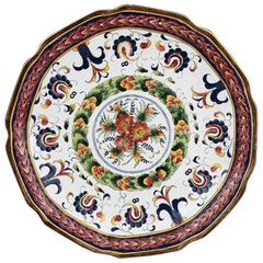 Decorative Round Ceramic Traditional Portuguese Style Platter