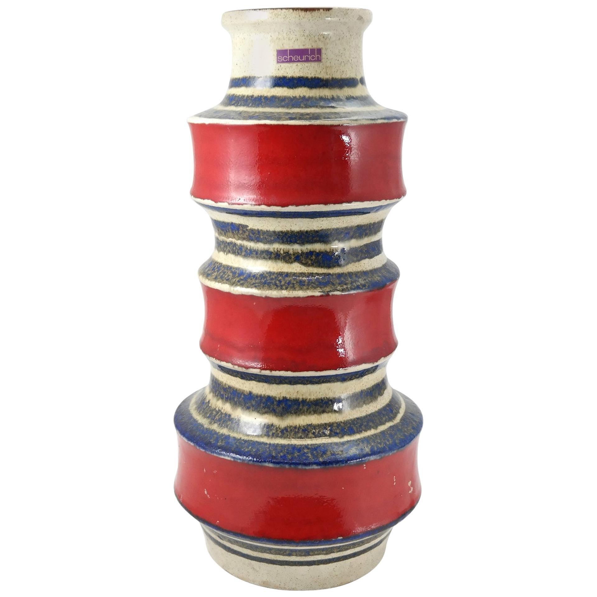 Decorative Scheurich Floor Vase, Germany, 1980s