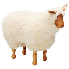 Decorative Sheep Stool, Holland, 1970
