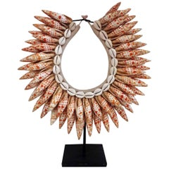 Decorative Shell Necklace on Stand