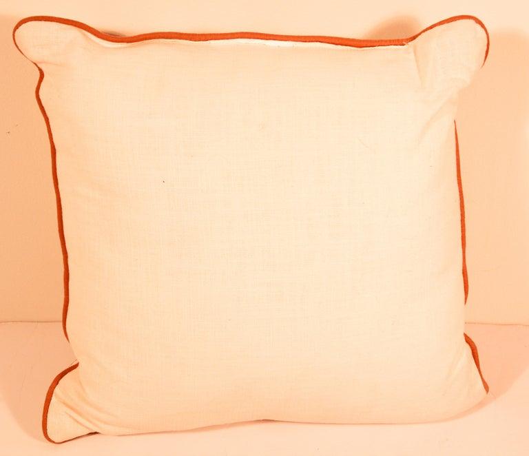 Decorative Silk Velvet Applique Throw Pillow For Sale 3