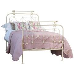 Decorative Small Double Bed in Cream