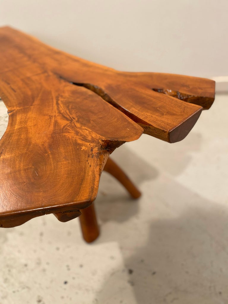 Decorative Split Wood Log Coffee Or Side Table Bench