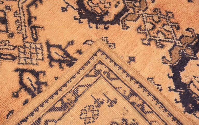 Decorative Square Size Antique Turkish Oushak Carpet For Sale 1