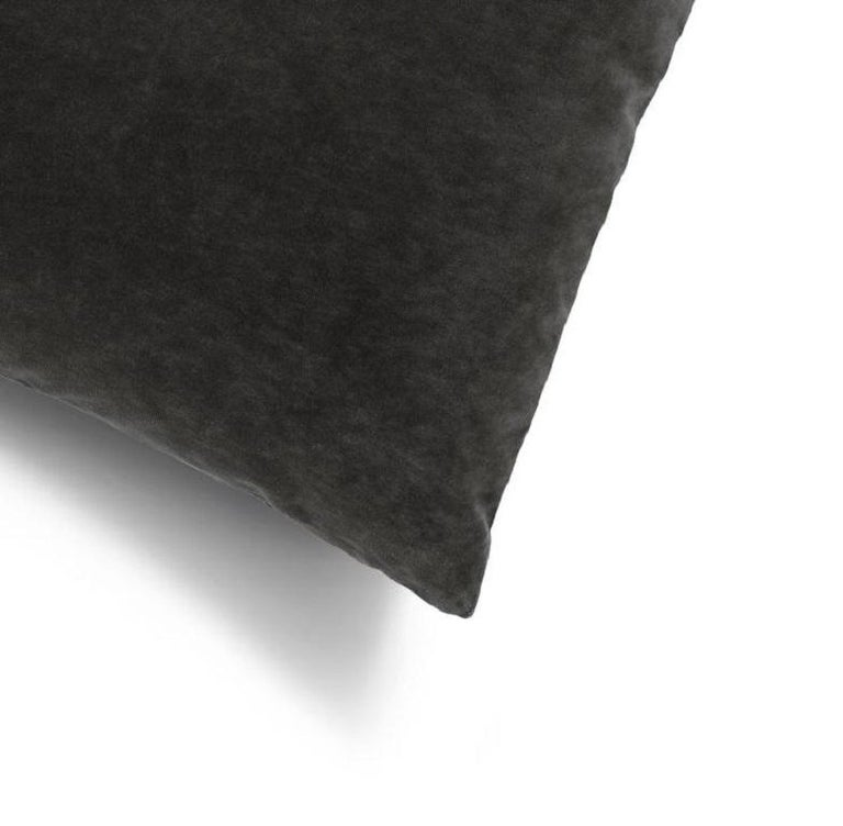 Soft and cozy cotton velvet decorative cushion perfect to ceate a layered effect on your upholstery interiors   100% made in Italy Distinctive