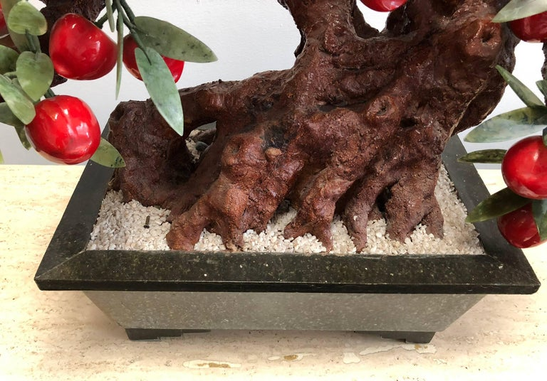 Hand-Crafted Decorative Stone Bonsai Tree For Sale