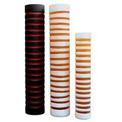 Decorative Striped Glass Vases