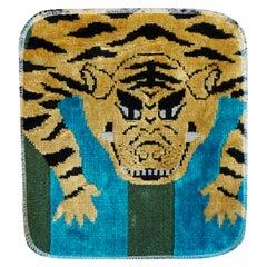 Decorative Table Mat with Velvet Tibetan Tiger