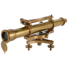 Decorative Telescope with Level, Metal, 20th Century